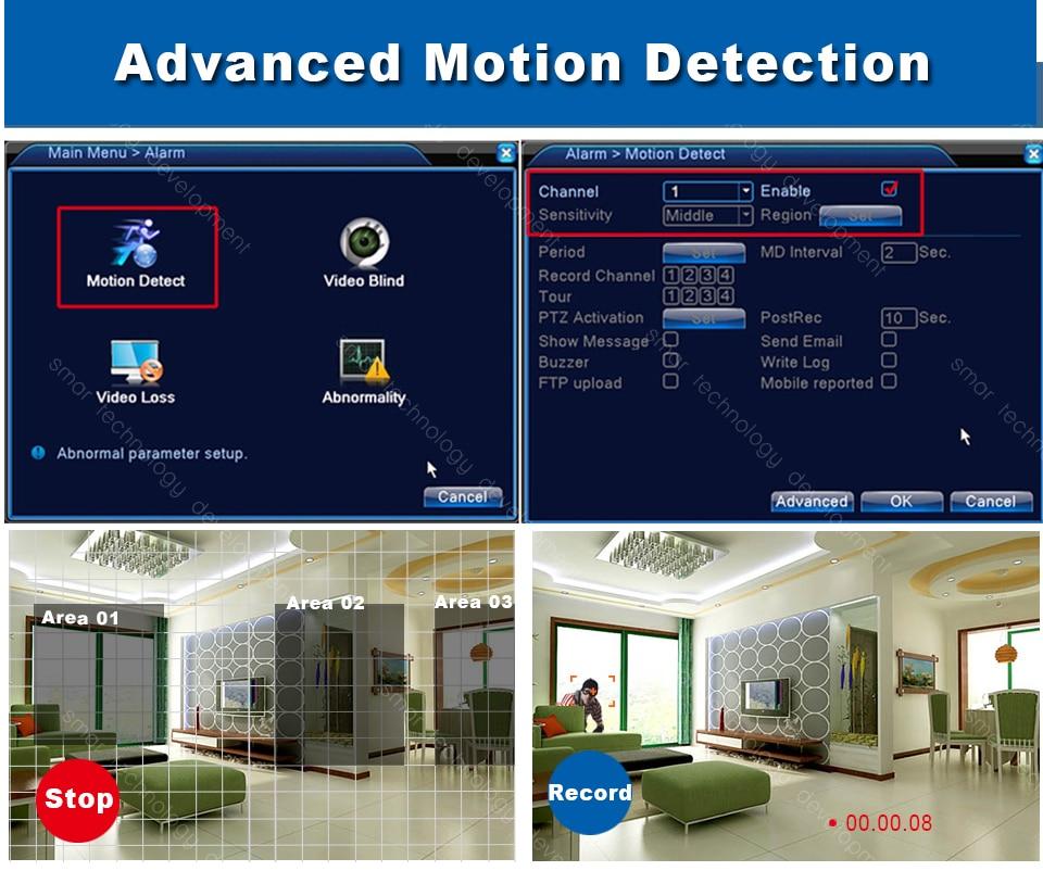 Мини CCTV NVR 4CH 8Ch для H 264 16CH для H 265 цифровой