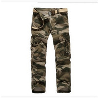 2017 Fashion Military Style Trousers Camo Tactical Cargo Combat Multi Pocket Pants Special Soldier Troops Camo