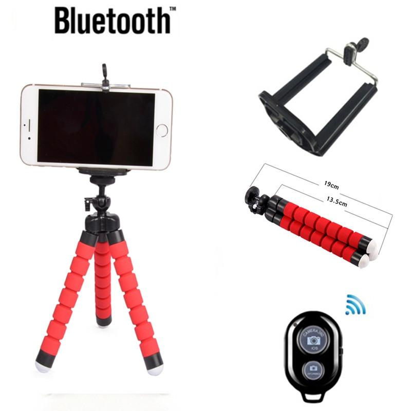 EastVita Mini Portable Flexible Sponge Octopus Tripod Bracket Stand Mount Monopod + Phone Holder For Camera DSLR Mount R25