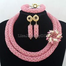 Splendid Statement Necklace African Jewelry Set African Crystal Jewelry Set for Wedding Statement Necklace Jewelry HD7386