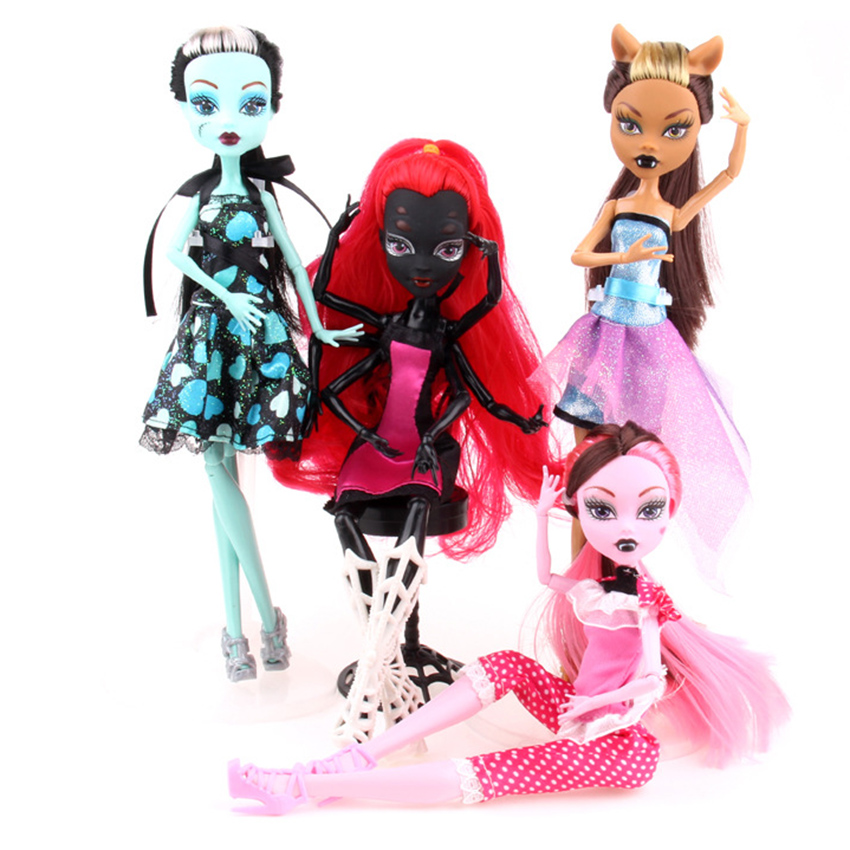Fasion Monster Dolls Draculaura/Clawdeen Wolf/ Frankie Stein / Black WYDOWNA Spider Action Toy Figures Girls Toys Gift pentel ain stein 36 предметов
