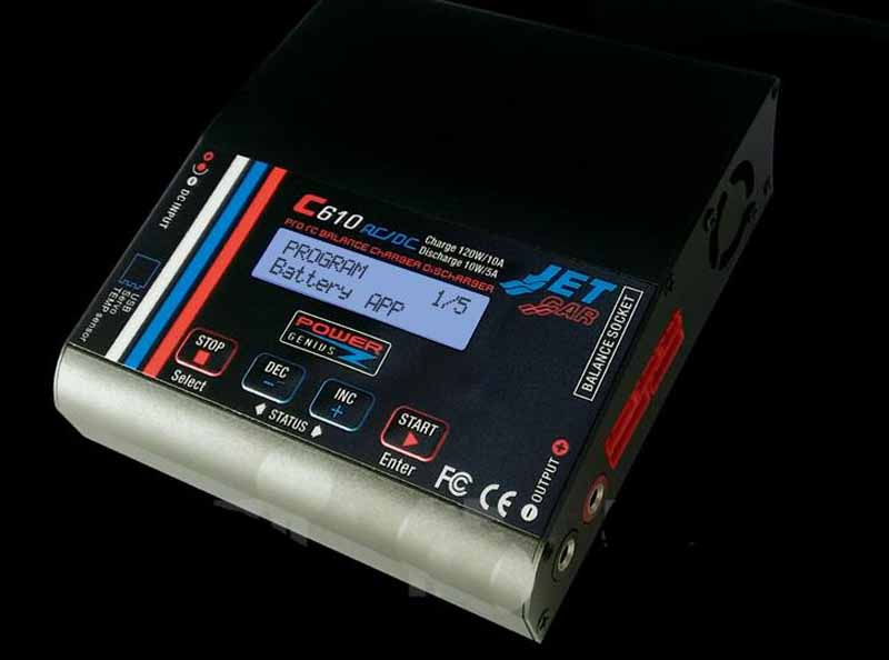 1PC C610 AC/DC 120W 10A Lipo Battery Balance Charger Support 4.35-4.40V LiHV w/LCD For FPV Drone Spare Parts Accessories