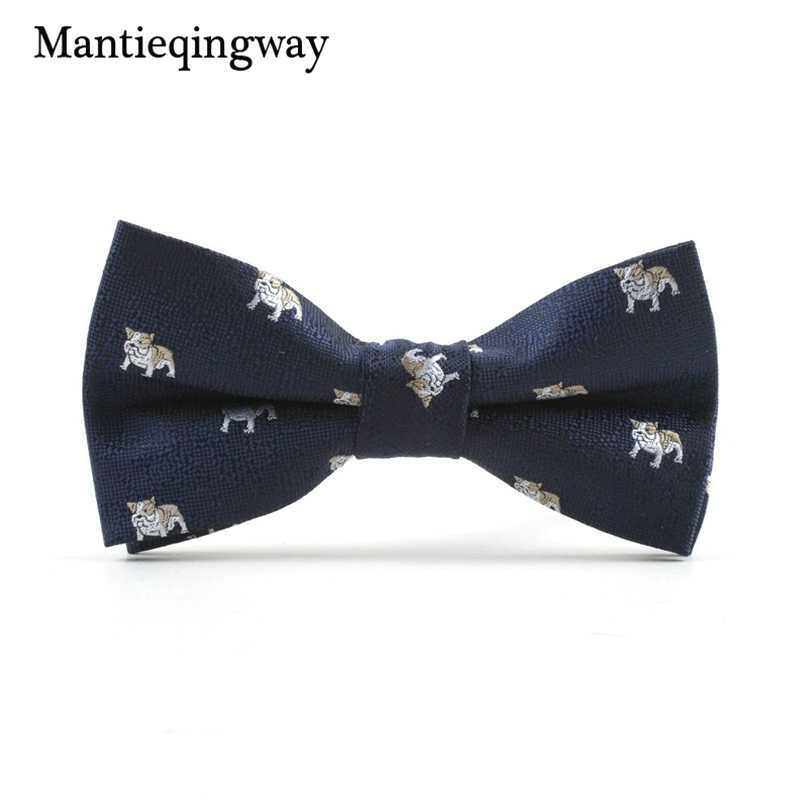 6a08798ea6e7 ... Mantieqingway Cartoon Fish Pattern Bow Tie for Mens Polyester Animals  Floral Printed Bowties for Mens Wedding ...
