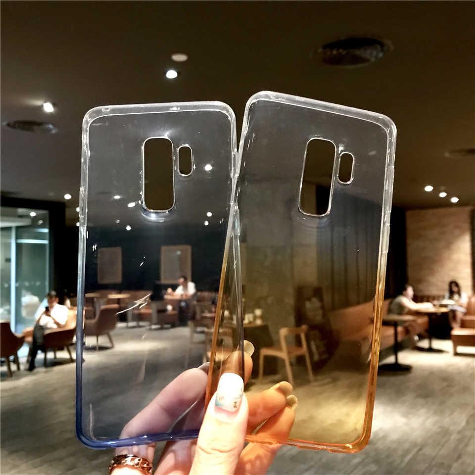 Colorido Arco Iris caso para Samsung Galaxy S9 caso de la cubierta del TPU del S10 S10E E S8 Plus Nota 9 8 A5 A7 2017 A6 J4 J6 J2 Pro 2018 caja del teléfono