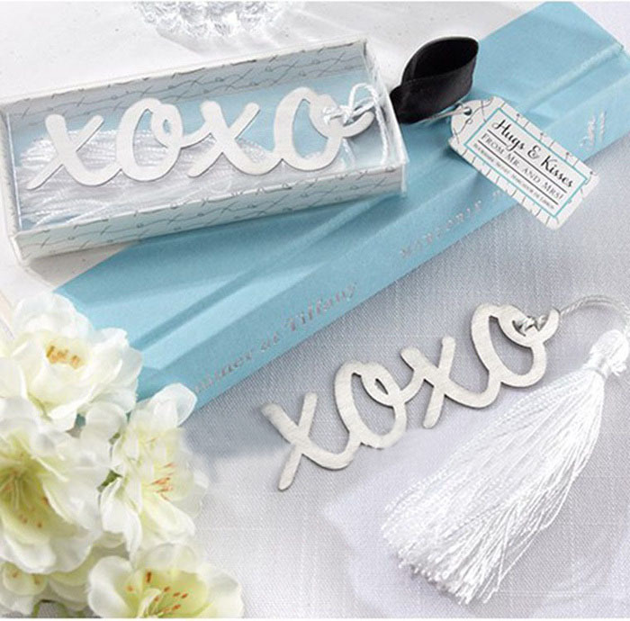 TIAMECH 1Pcs New In Box Magnetic Bookmark Xoxo Letter Vintage  For Books With Tassel Exquisite Gift  Kids K6892