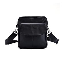 Real Genuine Leather Men's Messenger Bag Large Capacity Business Bags For Men Black Male Shoulder Bags 3 Style