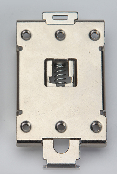 1PCS single phase SSR 40DA 25DA AA DD 35MM DIN rail fixed solid state relay clip clamp with 2 mounting screws aluminum alloy heat sink din nail mount for ssr 25da 40da solid state relay