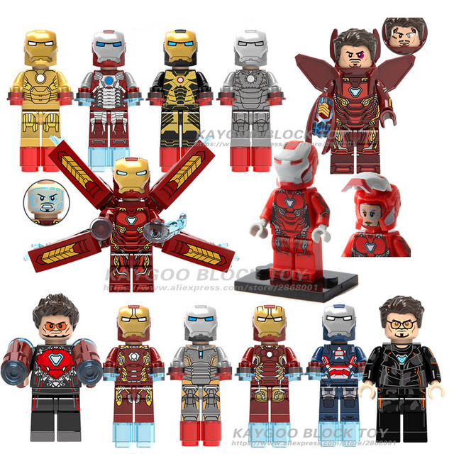 Iron Man MK50 Pepper Sale Avengers Super Hero Compatible Legoingly Figures Building Blocks Bricks Set Model Toys For Children