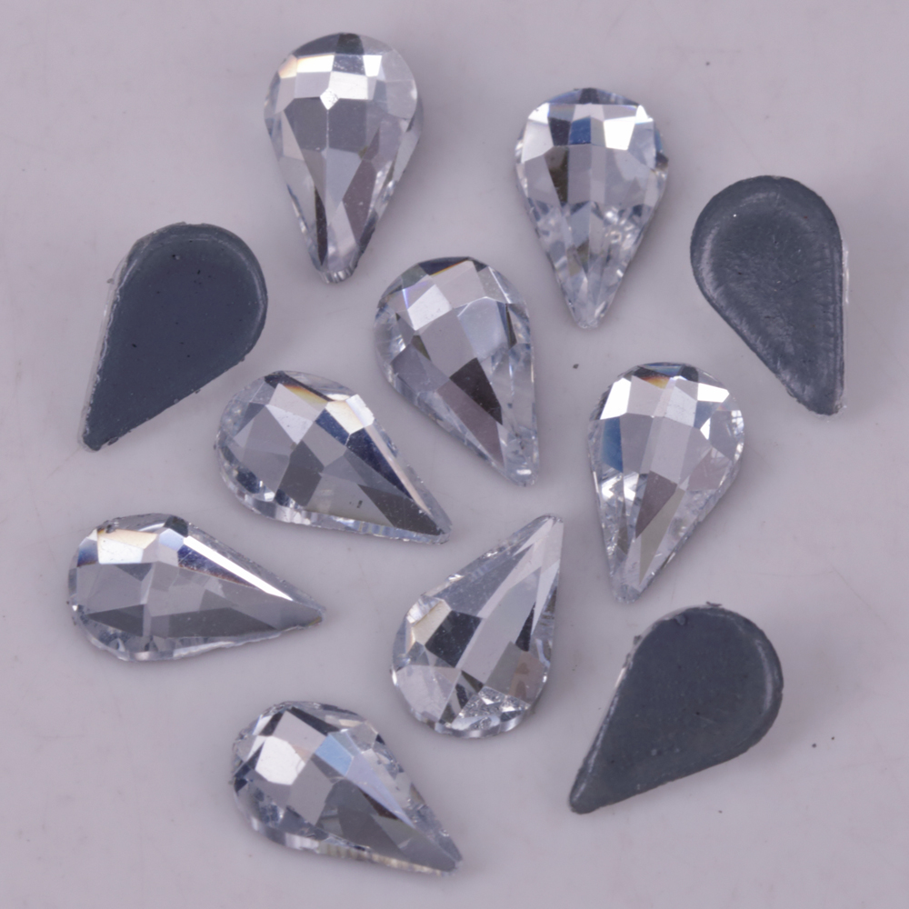 Dutiful Lead Free High Quality 5x8mm Crystal Clear Teardrop Flat Back Hotfix Rhinestones Iron On Flat Back Crystals Arts,crafts & Sewing