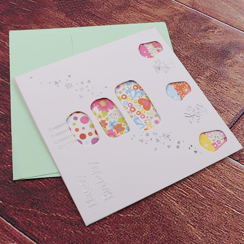 6card 6envelope Lot Cartoon Mini Greeting Card Thank You Card