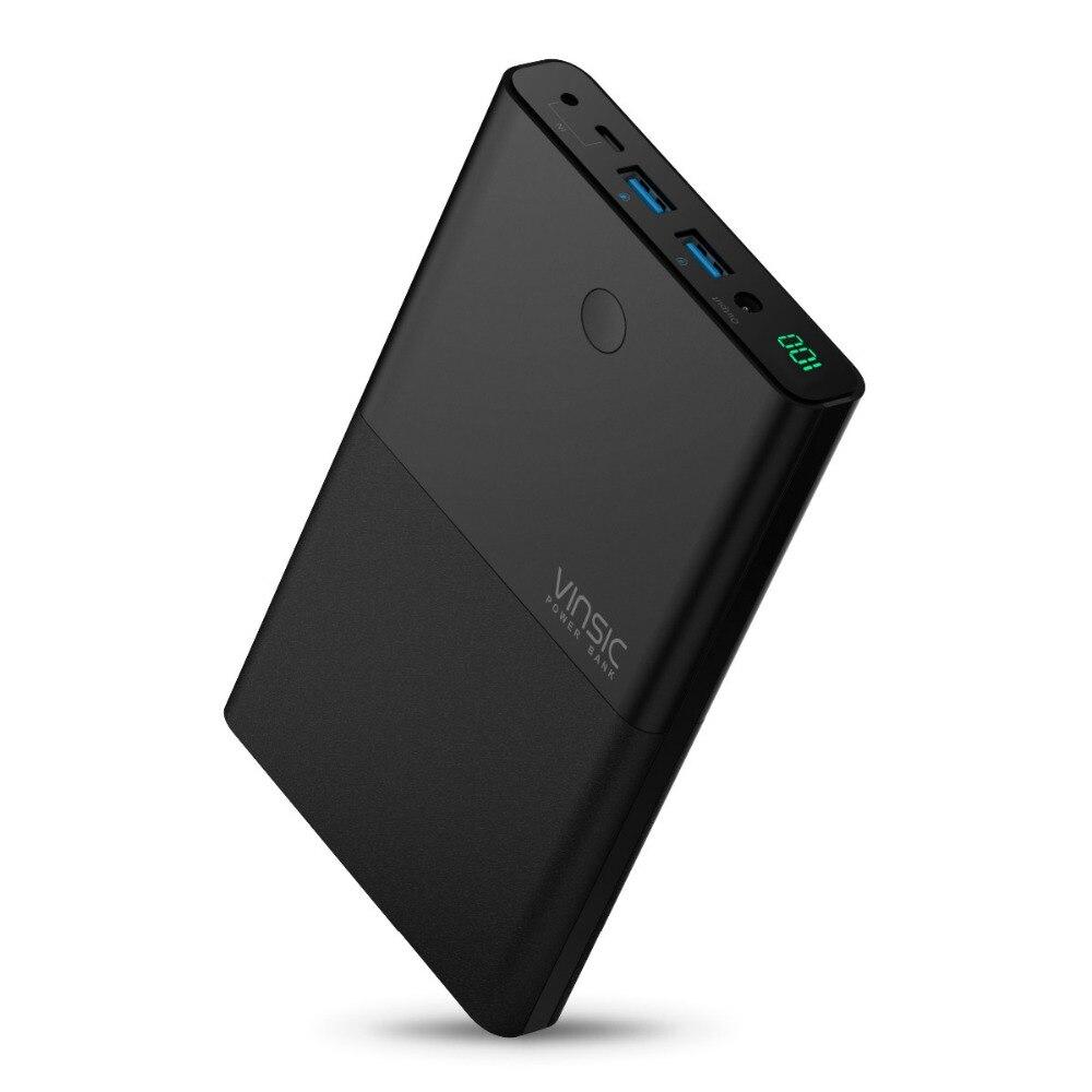 Chargeur portatif pour ordinateur Portable Vinsic 30000 mAh chargeur Portable 4.5A 19 V DC 2.4A double entrée cc pour iPhone X 8 8plus Xiaomi tablettes pour ordinateur Portable - 3