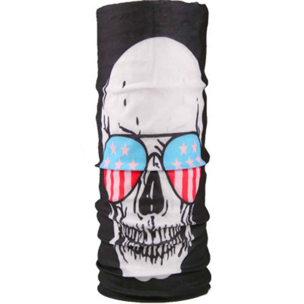 Skull Series Sport Bicycle Motorcycle Variety Turban Magic Headband Veil Multi Head Scarf Scarves Face Mask Wrap Hot(China)