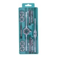 12pcs Tap Dies Set NC Screw Thread Plugs Taps Carbon Steel Hand Screw Taps Hand Tools