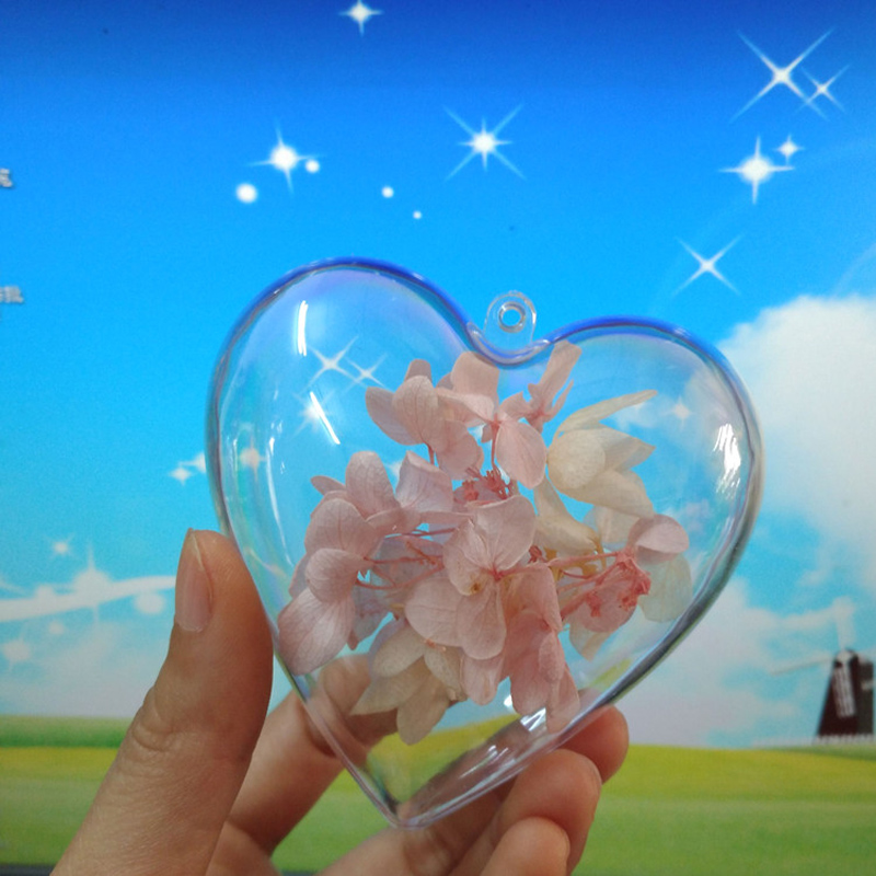 Hear-shaped Christmas ball window display home decorations Xmas Tree ornaments ball Transparent hanging ball wedding decoration