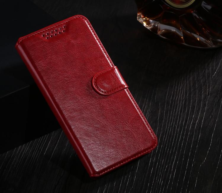 Case Design Holster Flip Crazy-Horse PU Leather Cover