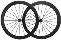 700C Width 23mm Carbon Road Bike Clincher Wheelset 60mm Customized Decal Ceramic Hub And 1 Piece