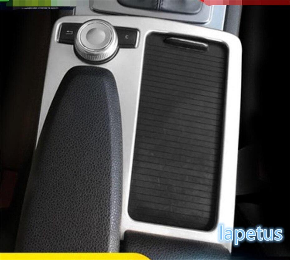 Panneau multimédia Lapetus/garniture de couverture de support de verre d'eau adaptée pour Mercedes Benz classe E W212 & Coupe 2010 2011 2012 acier inoxydable