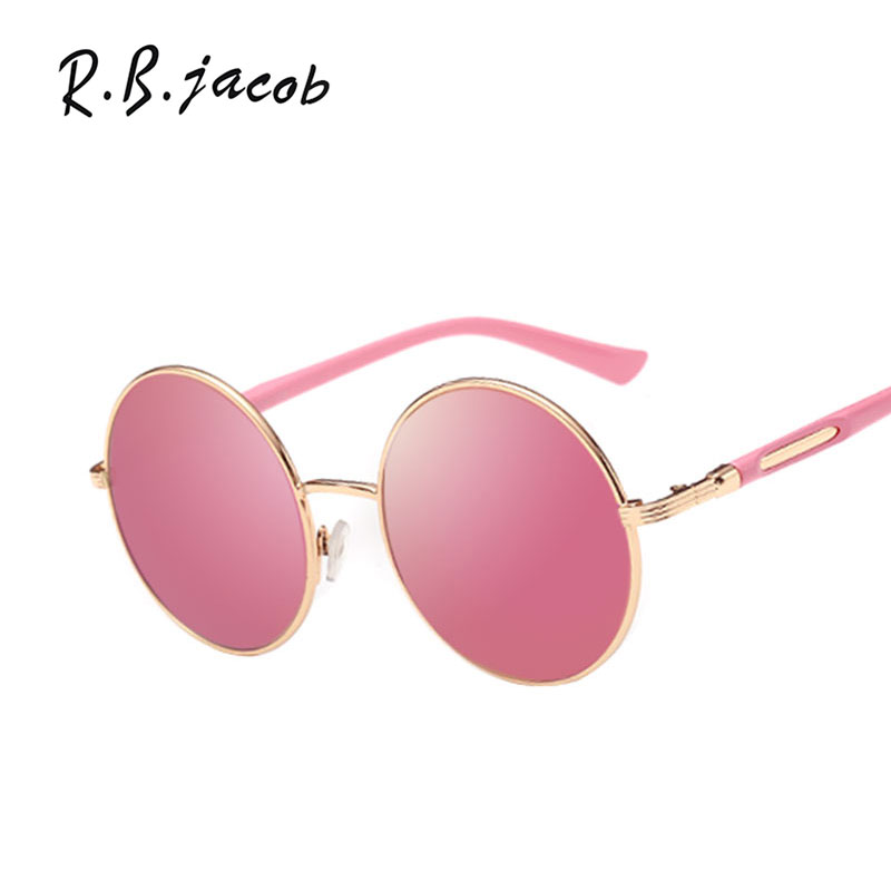 Sunglasses Brand Designer 2017 Vintage Sunnies Hip Hop Circle Frame Sunglasses Female Sun Glasses UV400 Lady Women Men Round