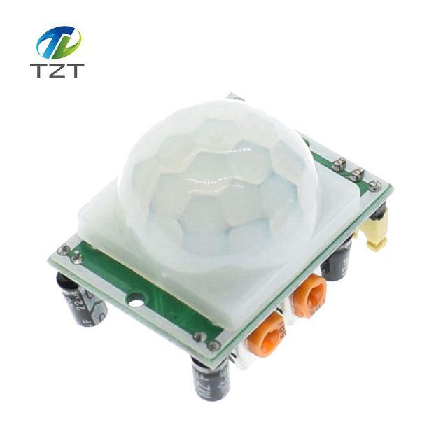 1 шт. HC-SR501 Регулировка ИК пироэлектрический инфракрасный PIR датчик движения Детектор модуль для Arduino для raspberry pi наборы