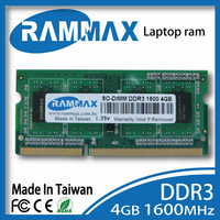 Laptop Ram Memory 1x4GB DDR3 SO DIMM1600Mhz PC3 12800 204 Pin CL11 High Compatible With AMD