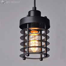 nordic Black vintage industrial pendant lights led for dinning room loft corridor lighting style hanging light fixtures
