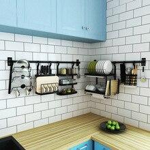 Кухонный стеллаж из нержавеющей стали DIY настенная кухонная полка для горшка с крышкой для приправ, подставки для посуды и держатели, кухонный органайзер, инструменты