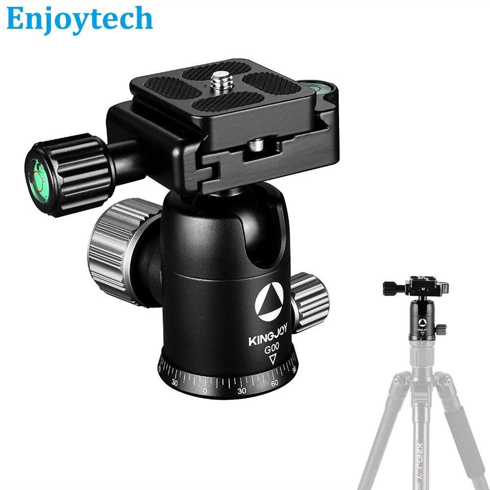 Rotule en alliage d'aluminium pour trépied Base d'amortissement panoramique pour Canon Nikon Sony DSLR DV Gopro Hero SJcam caméras