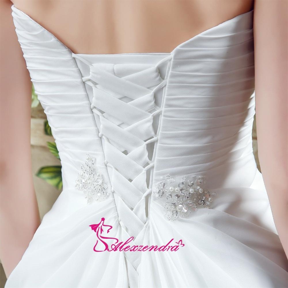 Alexzendra rochii de mireasa rochie de mireasa chiffon plaja cu - Rochii de mireasa - Fotografie 6