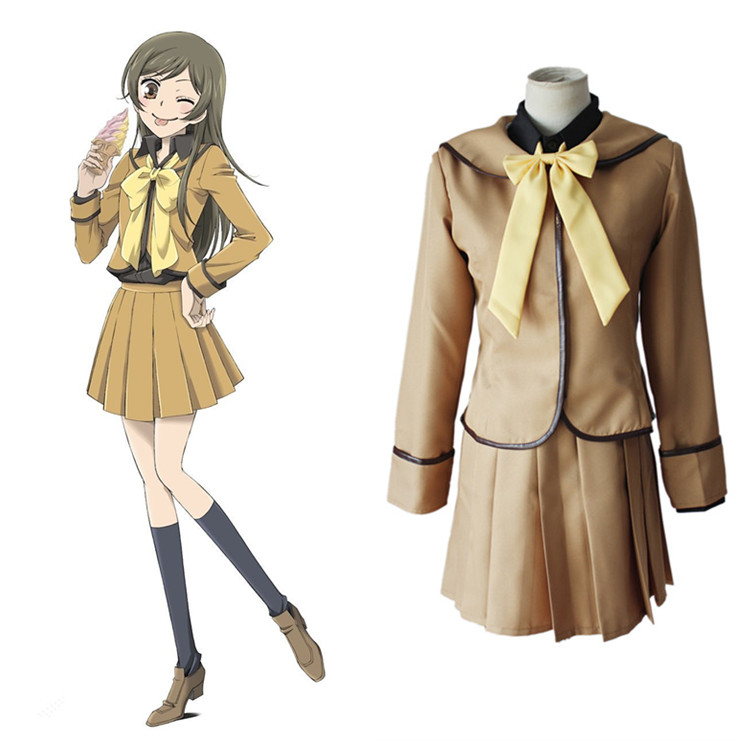 Anime Kamisama Love / Kamisama Kiss Cosplay Costume Kamisama Hajimemashita Momozono Nanami Full Set School Uniform