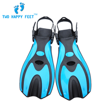 Scuba Diving Short Fins Flippers Silicone Professional Equipment Blue