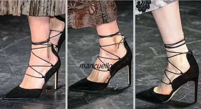 Zapatos Negro Toe Cruz Tacones Pointy Bombas gris Sexy Gris Fecha Elegante caqui Suede Up Talón Encaje Mujeres Stiletto Del Correa Tobillo Partido FSpxHUqE