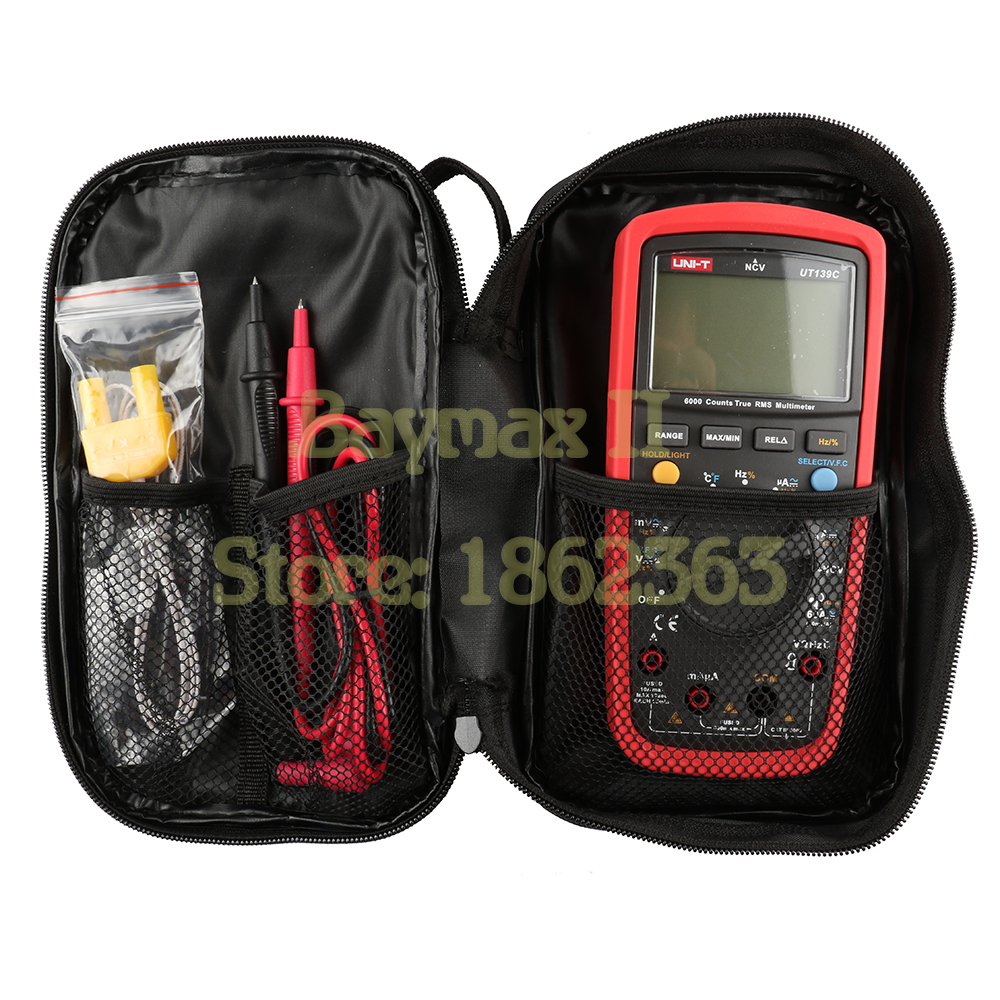 Image 4 - UNI T Black Canvas Bag for UNI T Series Digital Multimeter ,also Suit for The Other Brands Multimeter-in Instrument Parts & Accessories from Tools
