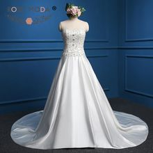 Rose Moda Crystal Ball Gown with Train Wedding Dress