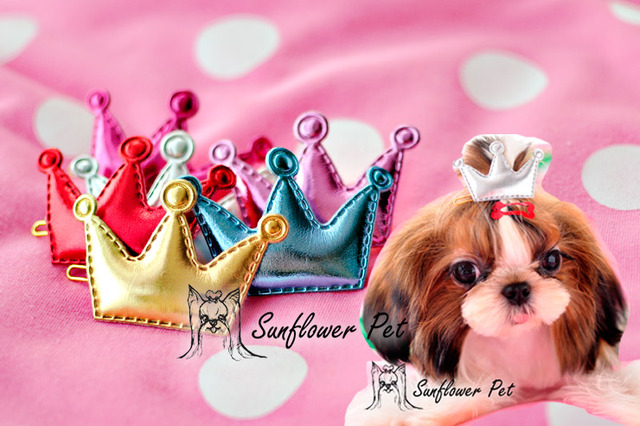 Dog Hair Crown Fashion Clips for Cats and small Dogs
