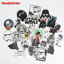 star wars 25 kinds waterpoof cap creative sticker for skateboard laptop luggage fridge phone toy styling home doodle sticker