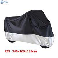 210D XXL Waterproof Motorcycle Cover Fits For Harley Davidson Sportster,Harley 1200 Sporter,Kawasaki ER6n Size 245*105*125cm