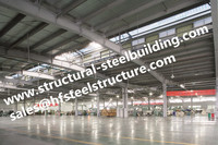 China metal roofing structural steel warehouse with doors and windows on the wall