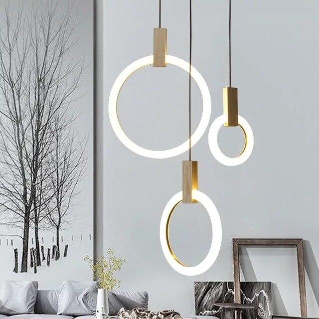 Moderne Hanger Plafond Lampen Hout Hanglamp Eetkamer Licht Lichten ...