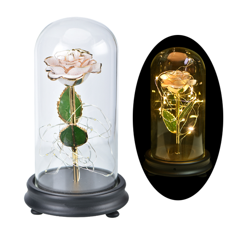 Aliexpress Com Buy Wr Romantic Rose 24k Gold Dipped: Aliexpress.com : Buy 2018 NEW LED Light Artificial Flowers