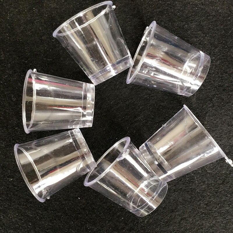 Home Decor 20pcs/lot Mini Ice-shape Cups Simulation Plastic Parfait Glass Miniature Transparent Glass Artificial Plastic Crafts #diy053 Crazy Price Home & Garden