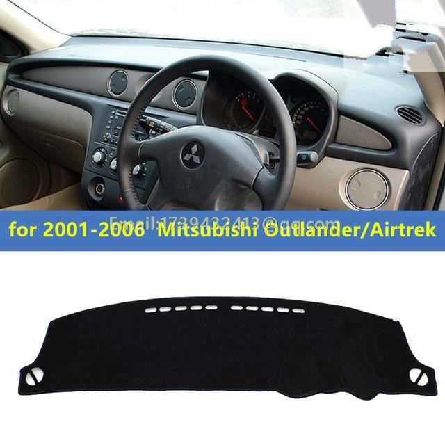 Dashmats araba-şekillendirici aksesuarları dashboard kapak için Mitsubishi Montero Outlander Airtrek 2001 2002 2003 2004 2005 2006 RHD