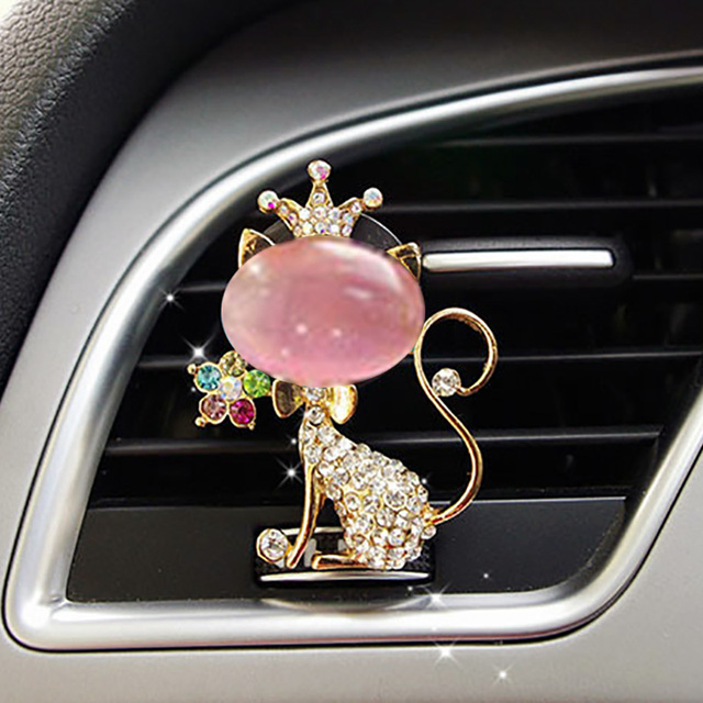 JOORMOM cute car air outlet decorative air conditioning mouth alloy studded aromatherapy clip interior accessories for girl