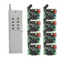 220 v 1ch radyo kablosuz uzaktan kumanda anahtarı 8 alıcı & verici öğrenme kodu ışık lamba led açik kapali çıkış düzeltilmiş