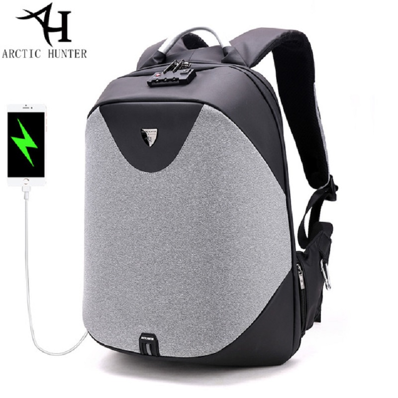 ARCTIC HUNTER Design Backpacks Men 15.6inch Laptop Anti-theft Backpack Waterproof Bag Casual Business Travel School Back pack voyjoy t 530 travel bag backpack men high capacity 15 inch laptop notebook mochila waterproof for school teenagers students