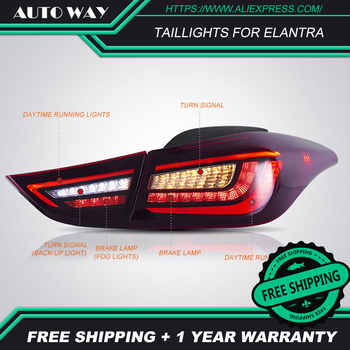 Car Styling case for Hyundai Elantra taillights 2012-2017 Hyundai Elantra taillight LED taillight TAIL Lights All LED Rear Lamp