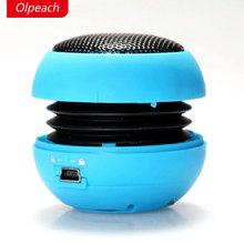 Фотография Olpeach Portable Hamburger Mini Speaker Mp3 Music Loudspeaker Player Outdoor 3.5mm Wired Speaker Sound Box for Computer Phones