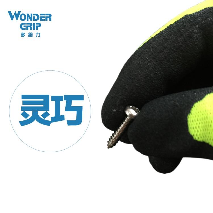 2 Paar Gartenhandschuhe Schutzhandschuhe Nylon Mit Nitril - Schutz und Sicherheit - Foto 3
