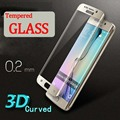 Para samsung s6 s7 edge plus 0.2mm 9 h vidrio templado curvado protector de pantalla 3d de cine samsung galaxy s6 edge s6 edge Plus