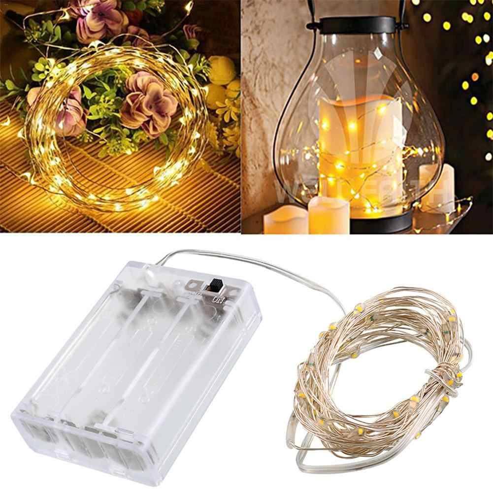 3M 30LED Silver Copper Wire Holiday Decoration Light String Battery Box Operated Christmas Wedding Party Decoration LED String