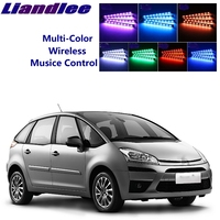 LiandLee Car Glow Interior Floor Decorative Atmosphere Seats Accent Ambient Neon light For Citroen C4 Picasso